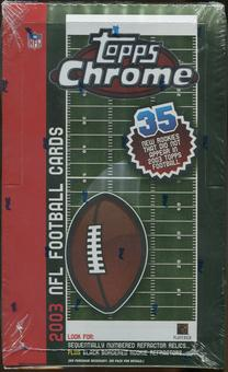 2003 Topps Chrome Football 24 Pack Box