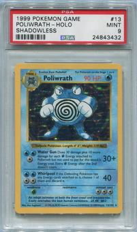 Pokemon Base Set Single Poliwrath 13/102 Shadowless - PSA 9 *24843432*