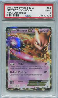 Pokemon Next Destinies Single Mewtwo EX 54/99 - PSA 9  *24843433*