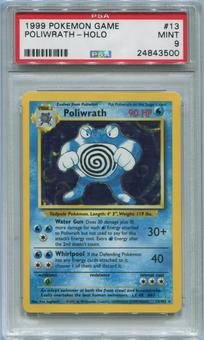 Pokemon Base Set Single Poliwrath 13/102 - PSA 9 *24843500*