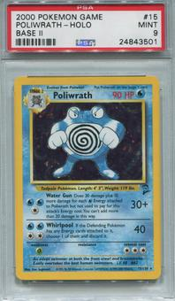 Pokemon Base Set 2 Poliwrath 15/130 - PSA 9 *24843501*