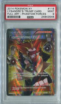 Pokemon Phantom Forces Single Lysandre's Trump Card 118/119 FULL ART - PSA 9  *24843546*