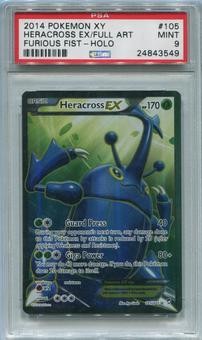 Pokemon Furious Fists Single Heracross EX 105/111 FULL ART - PSA 9  *24843549*
