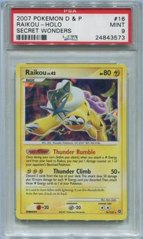 Pokemon Secret Wonders Single Raikou 16/132 - PSA 9  *248435739*