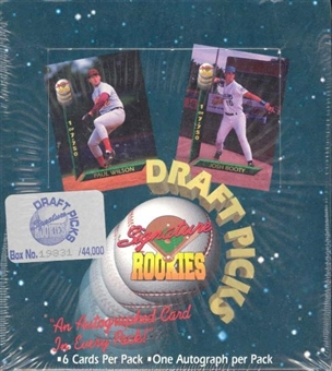 1994 Signature Rookies Baseball Draft Picks 18 Pack Box