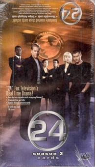 24 Twenty Four Season 3 Trading Cards Hobby Box (Comic Images)
