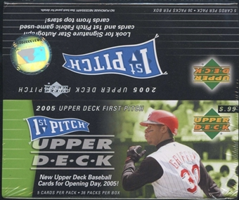 2005 Upper Deck First Pitch Baseball 36 Pack Box