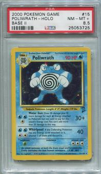Pokemon Base Set 2 Single Poliwrath 15/130 - PSA 8.5  *25053725*