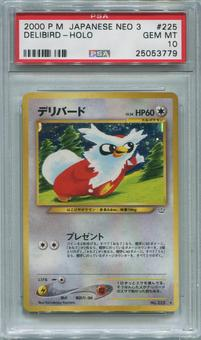 Pokemon Japanese Neo 3 Single Delibird - PSA 10  *25053779*