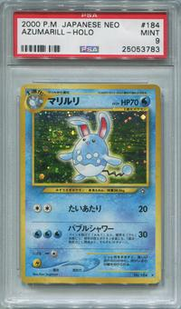 Pokemon Japanese Neo Genesis Single Azumarill - PSA 9  *25053783*
