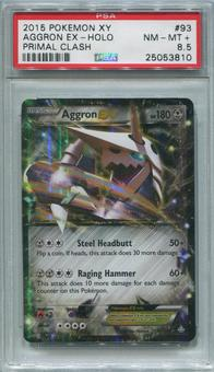 Pokemon Primal Clash Single Aggron EX 93/160 - PSA 8.5  *25053810*