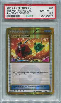 Pokemon Ancient Origins Single Energy Retrieval 99/98 Secret Rare - PSA 8.5 *25053812*