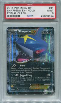 Pokemon Primal Clash Single Sharpedo EX 91/160 - PSA 9  *25053814*