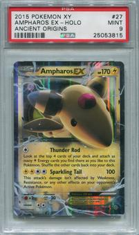 Pokemon Ancient Origins Single Ampharos EX 27/98 - PSA 9  *25053815*
