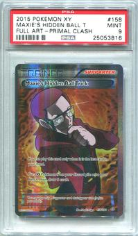Pokemon Primal Clash Single Maxie's Hidden Ball Trick 158/160 FULL ART - PSA 9 *25053816*