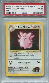 Pokemon Gym Heroes Single Erika's Clefable 3/132 - PSA 9  *25053826*