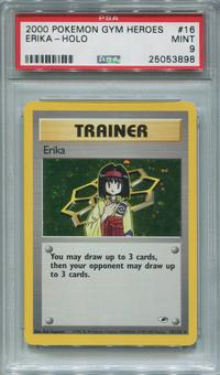 Pokemon Gym Heroes Single Erika 16/132 - PSA 9  *25053898*