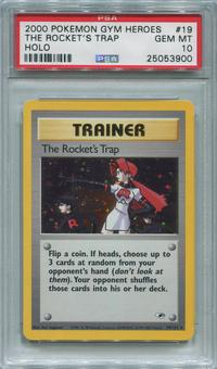 Pokemon Gym Heroes Single The Rocket's Trap 19/132 - PSA 10  *25053900*