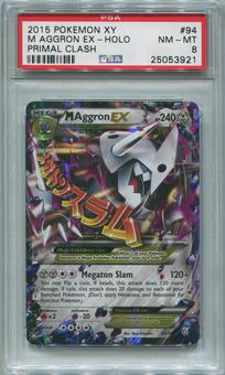 Pokemon Primal Clash Single M Aggron EX 94/160 - PSA 8 *25053921*