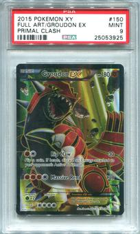 Pokemon Primal Clash Single Groudon EX 150/160 FULL ART - PSA 9  *25053925*