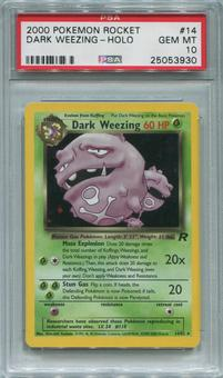 Pokemon Team Rocket Single Dark Weezing 14/82 - PSA 10 *25053930*