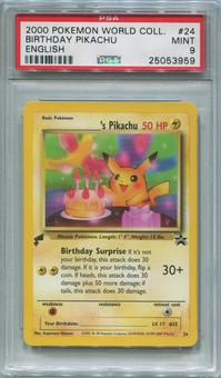 Pokemon World Collection Single Birthday Pikachu 24 - PSA 9  *25053959*