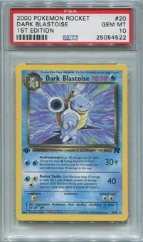 Pokemon Team Rocket 1st Edition Single Dark Blastoise 20/82 - PSA 10  *25054522*