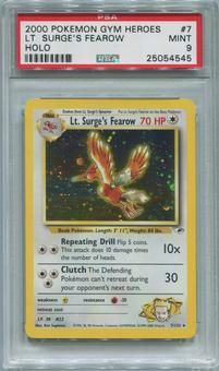 Pokemon Gym Heroes Single Lt. Surge's Fearow 7/132 - PSA 9  *25054545*