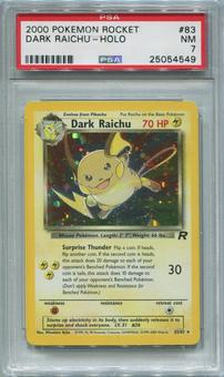 Pokemon Team Rocket Single Darl Raichu 83/82 - PSA 7  *25054549*