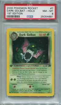 Pokemon Team Rocket 1st Edition Single Dark Golbat 7/82 - PSA 8  *25054681*