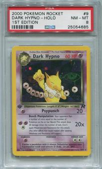 Pokemon Team Rocket 1st Edition Single Dark Hypno 9/82 - PSA 8  *25054682*