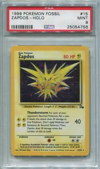 Pokemon Fossil Single Zapdos 15/62  -  PSA 9  *25054756*