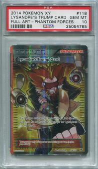 Pokemon Phantom Forces Single Lysandre's Trump Card 118/119 FULL ART - PSA 10  *25054765*