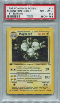 Pokemon Fossil 1st Edition Single Magneton 11/62 - PSA 8.5  *25054768*