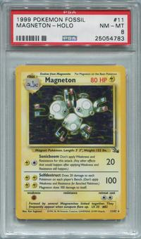 Pokemon Fossil Single Magneton 11/62 - PSA 8  *25054783*