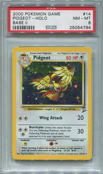 Pokemon Base Set 2 Single Pidgeot 14/130 - PSA 8  *25054794*