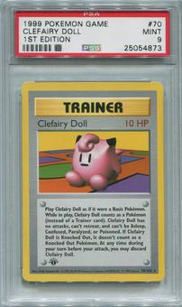 Pokemon Base Set 1 1st Edition Single Clefairy Doll 70/102 - PSA 9  *25054873*