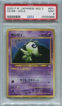 Pokemon Japanese Neo 3 Single Celebi - PSA 9 *25054889*