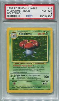 Pokemon Jungle Single Vileplume 15/64 NO SET SYMBOL ERROR - PSA 8  *25054900*