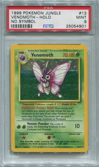 Pokemon Jungle Single Venomoth 13/64 NO SET SYMBOL ERROR - PSA 9  *25054901*