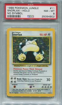 Pokemon Jungle Single Snorlax 11/64 NO SET SYMBOL ERROR - PSA 8  *25054902*