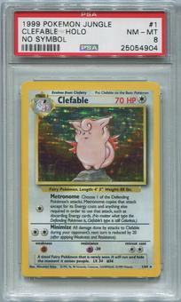 Pokemon Jungle Single Clefable 1/64 NO SET SYMBOL ERROR - PSA 8