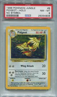 Pokemon Jungle Single Pidgeot 8/64 NO SET SYMBOL ERROR - PSA 8  *25054906*