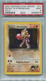 Pokemon Gym Heroes Single Rocket's Hitmonchan 11/132 - PSA 9  *25054916*