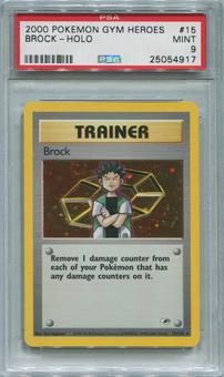 Pokemon Gym Heroes Single Brock 15/132 - PSA 9  *25054917*