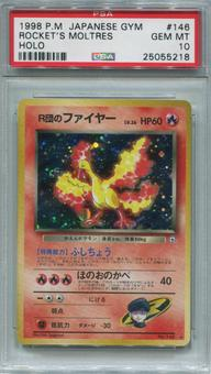 Pokemon Japanese Team Rocket Single Rocket's Moltres - PSA 10  *25055218*