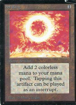 Magic the Gathering Beta Single Sol Ring - HEAVY PLAY (HP)
