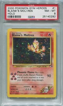Pokemon Gym Challenge Single Blaine's Moltres 1/132  -  PSA 8  *25140292*