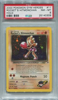 Pokemon Gym Heroes Single Rocket's Hitmonchan 11/132  -  PSA 8  *25140309*