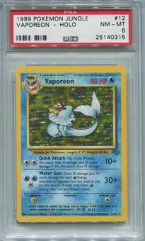 Pokemon Jungle Single Vaporeon 12/64  -  PSA 8  *25140315*